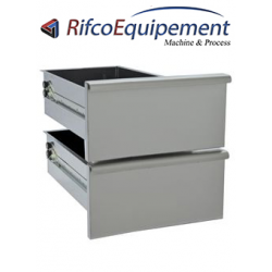 Kit bloc de 2 tiroirs, soubassement 300 mm