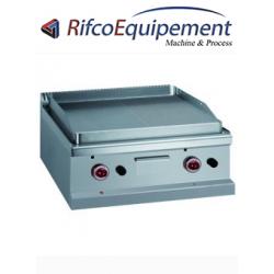Plaque de cuisson, 1/2 lisse 1/2 rainurée au chrome dur 50 µm -Top-