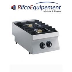 Cuisinière gaz 2 feux, 2x 5,5 kW -TOP-