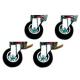 A22/KR2F Kit de 4 roues (2 avec freins)