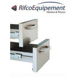 2 tiroirs pour soubassement mod. 400 mm