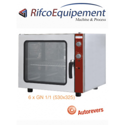 Four électrique à convection 6x GN 1/1 + humidificateur manuel