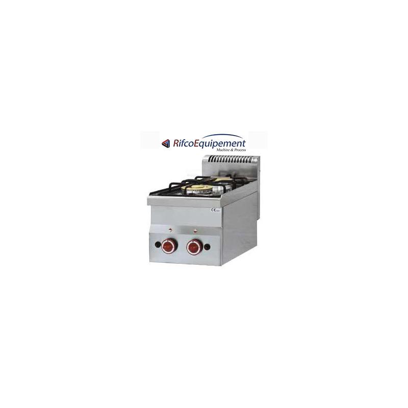 Cuisinière 2 feux gaz - Top - Rifco Equipement
