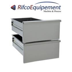 Kit bloc de 2 tiroirs, soubassement 600 mm