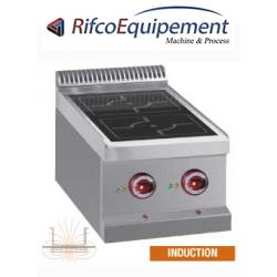 Cuisinière électrique, 2 foyers à induction -Top-