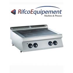 Cuisinière électrique vitrocéramique, 4 zones -TOP-
