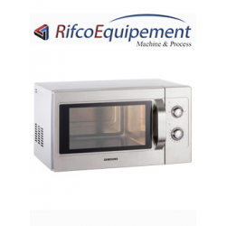 Micro-ondes professionnel inox, mécanique, 1050 W (26 Lt)
